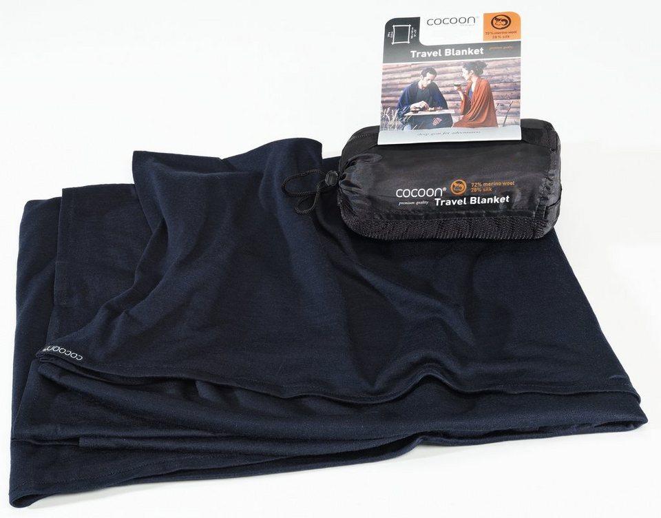 Cocoon Reisedecke »Travel Blanket Merino Wool/Silk« in blau