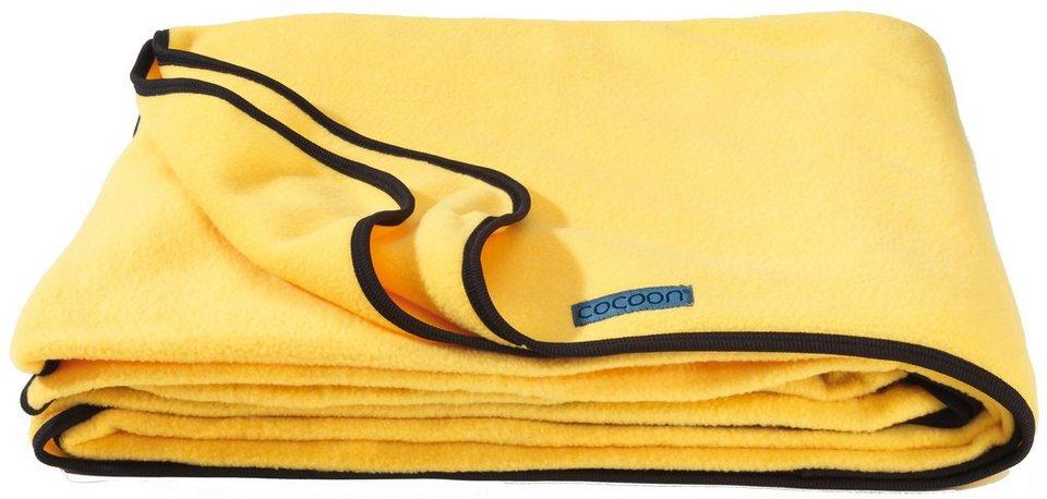 Cocoon Reisedecke »Fleece Blanket« in gelb