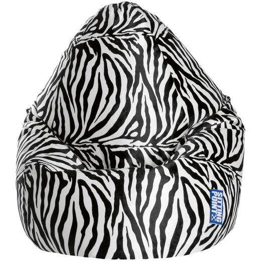 Sitting Point Sitzsack BeanBag AFRO XL, Zebra