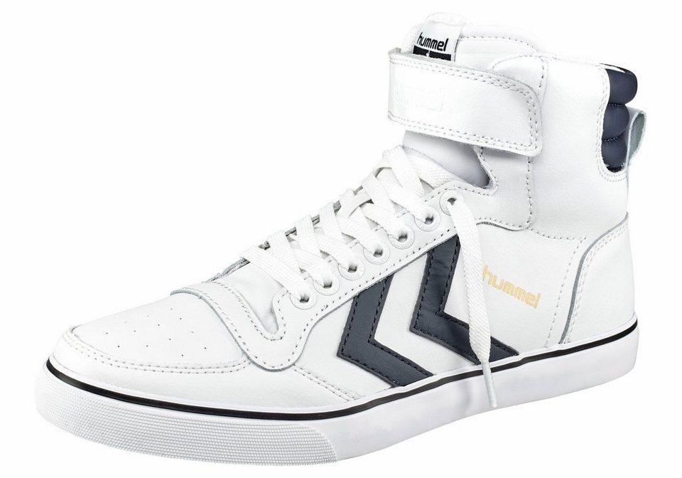 Hummel Stadil Classic Sneaker in Weiß-Blau