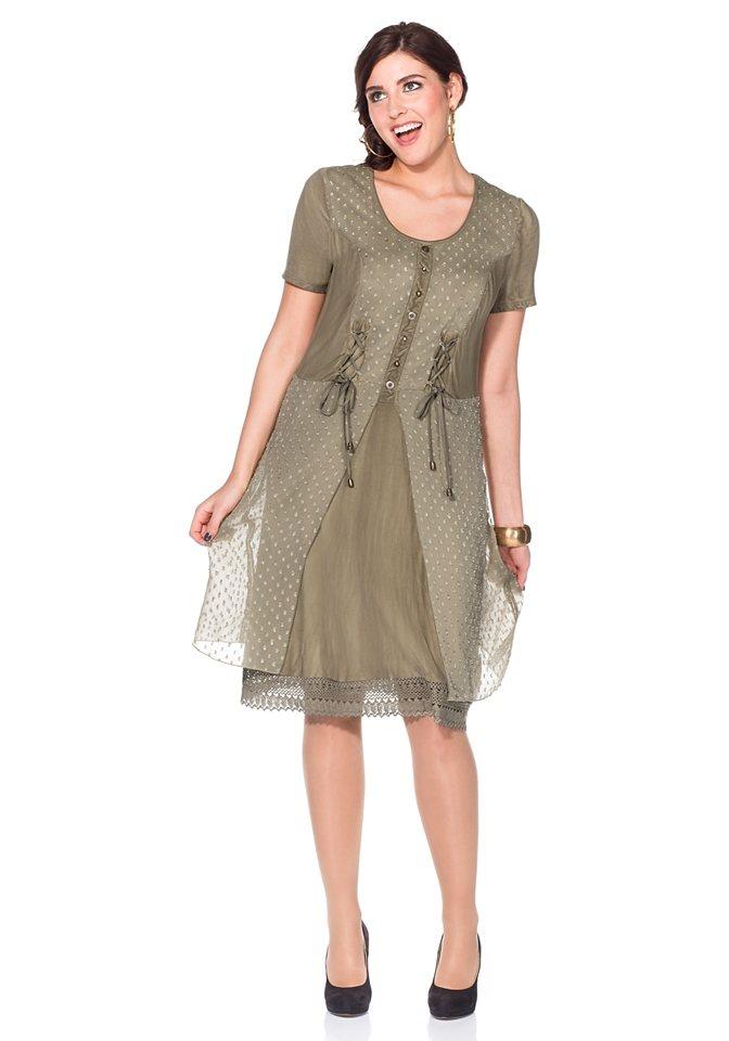 Joe Browns Kleid im Materialmix