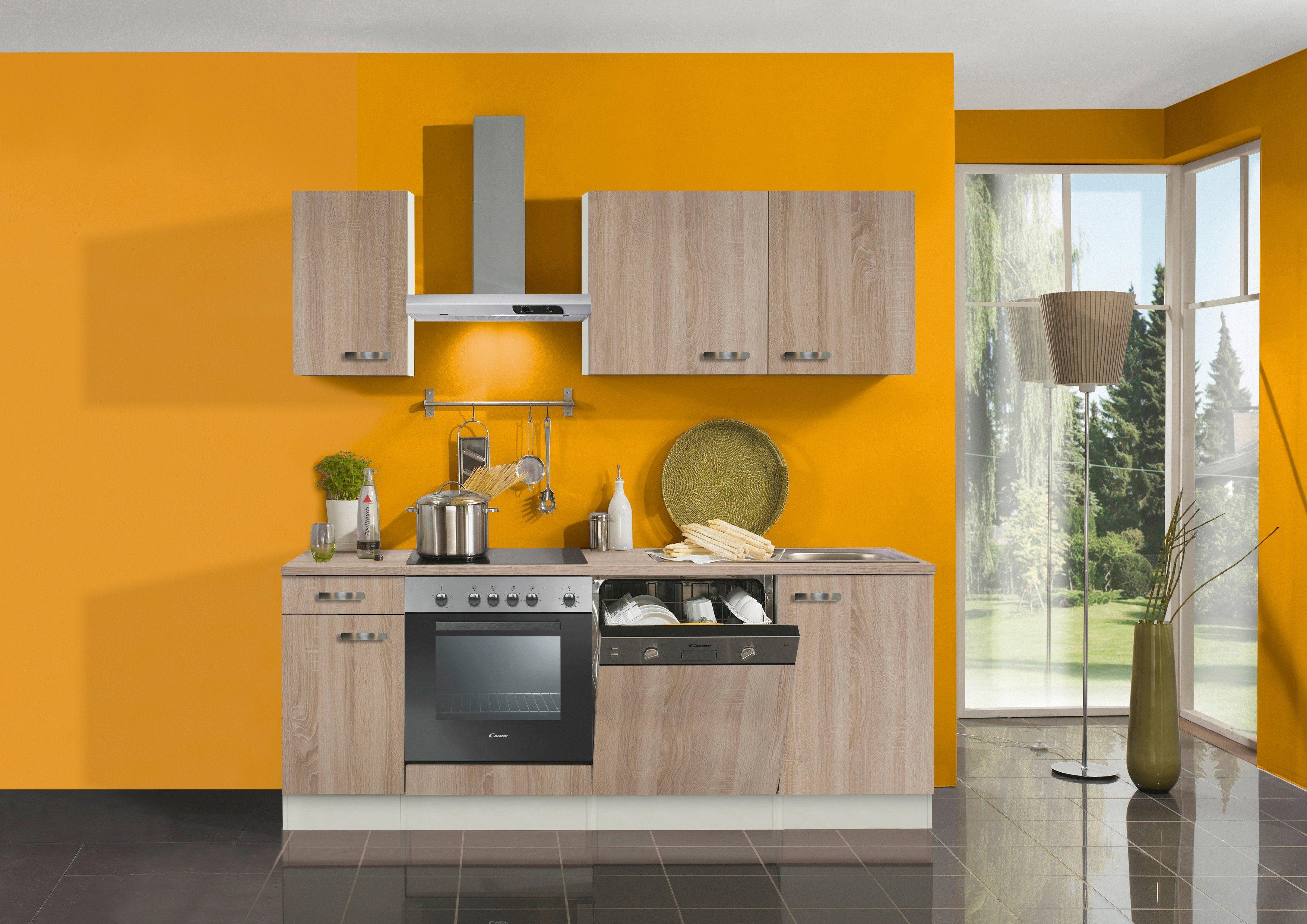 Optifit Küchenzeile mit E-Geräten »Padua«, Breite 210 cm