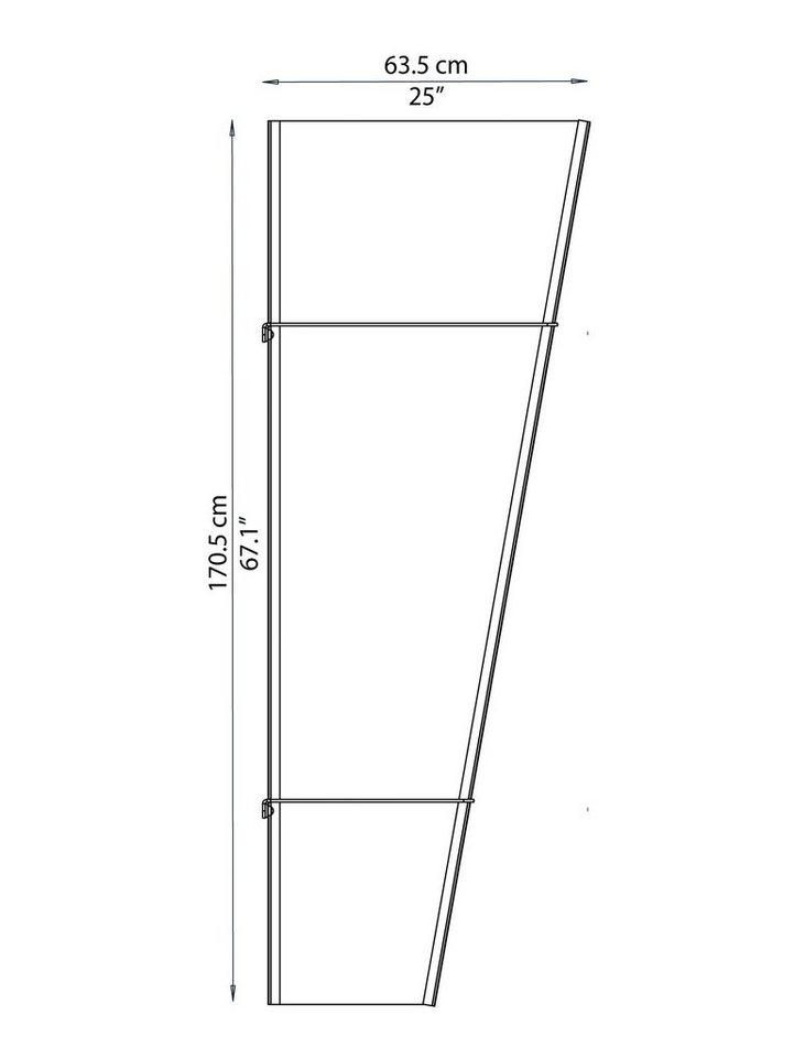 Seitenteil für Vordächer »Pegasus 620« in grau