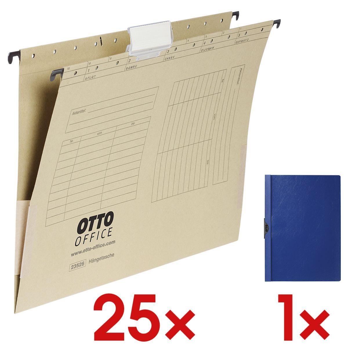 OTTO Office Standard 25 Hängetaschen inkl. 1 Klemmhefter 1 Set