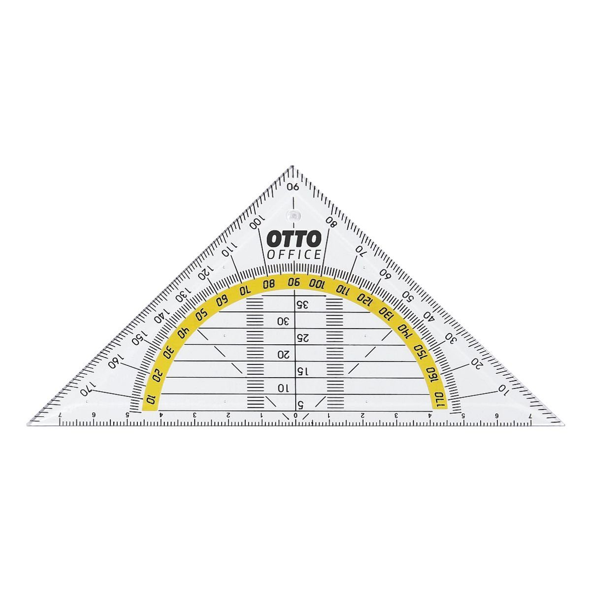 OTTOOFFICE STANDARD Geometriedreieck 14 cm ohne Griff