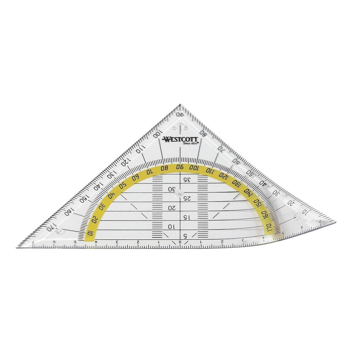Westcott Flexibles Geometriedreieck ohne Griff