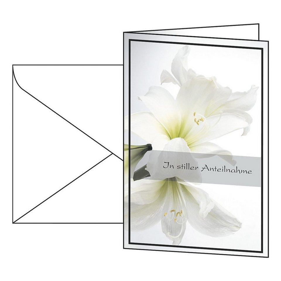 Sigel Trauer-Karten »Weiße Amaryllis«