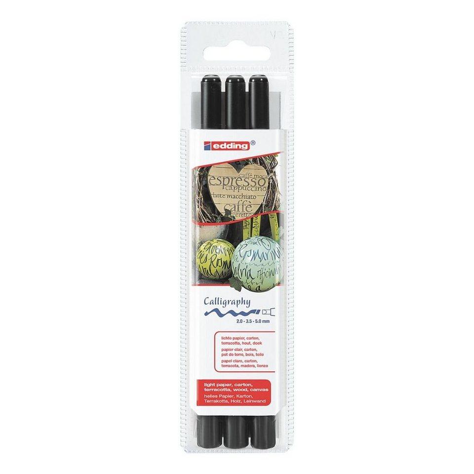 edding 3er-Set Fasermaler »1255 calligraphy pen«