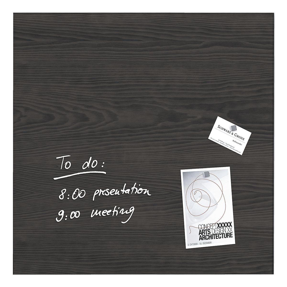 Sigel Glas-Magnettafel »artverum® Dark Wood«