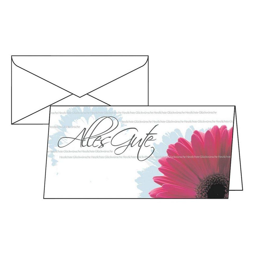 Sigel Geburtstagskarten mit Umschlägen »Alles Gute«