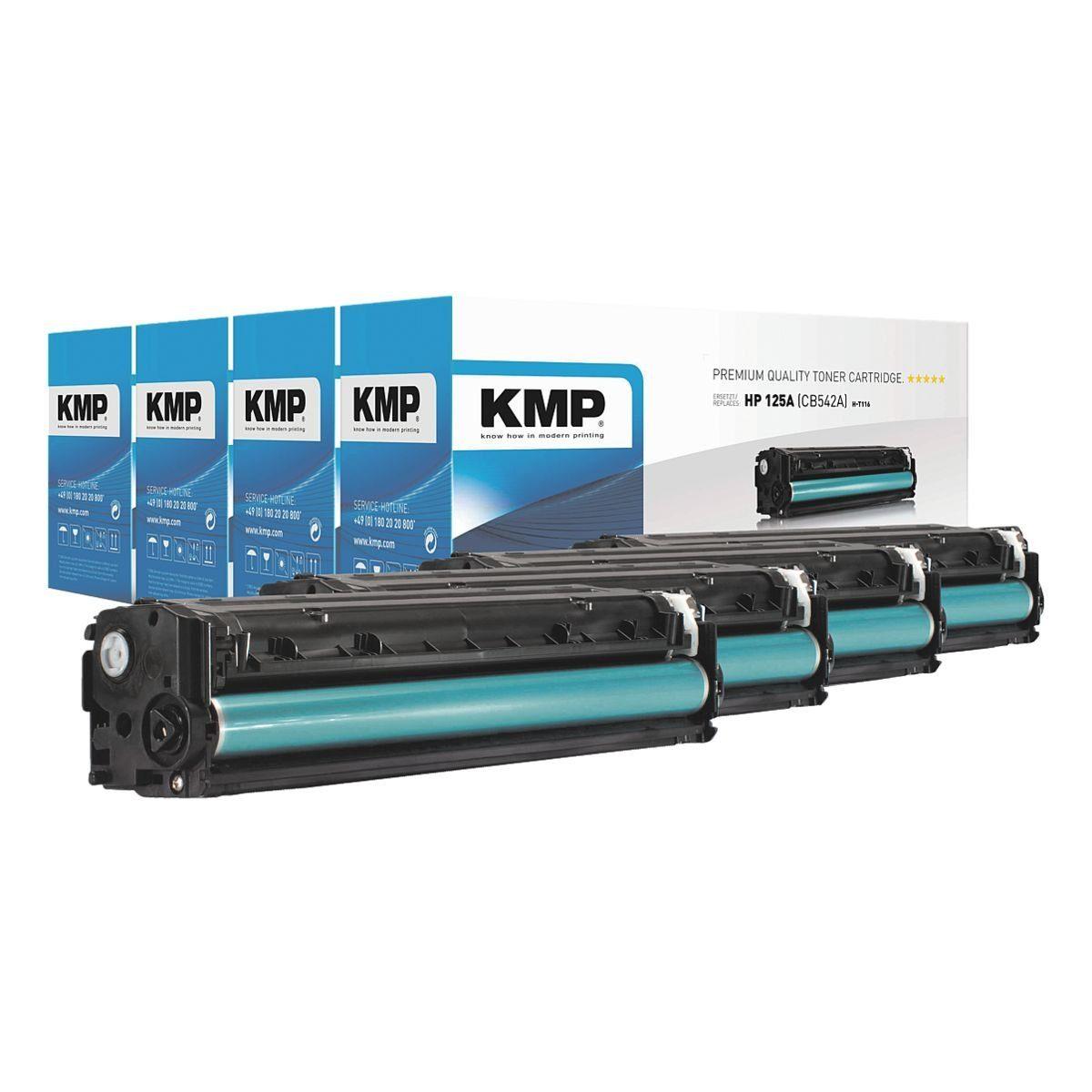 KMP Toner-Set ersetzt HP »CB540A / CB541A / CB542A / CB543A...