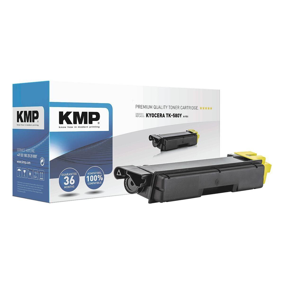 KMP Tonerpatrone ersetzt Kyocera »TK-580Y XXL«