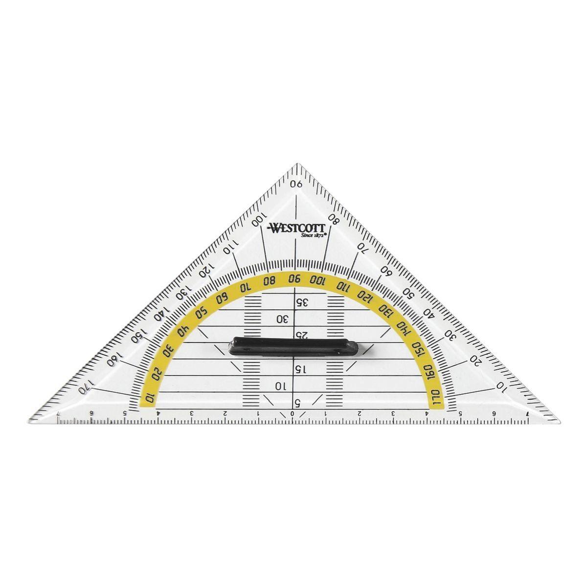 Westcott Geometriedreieck 14 cm mit Griff