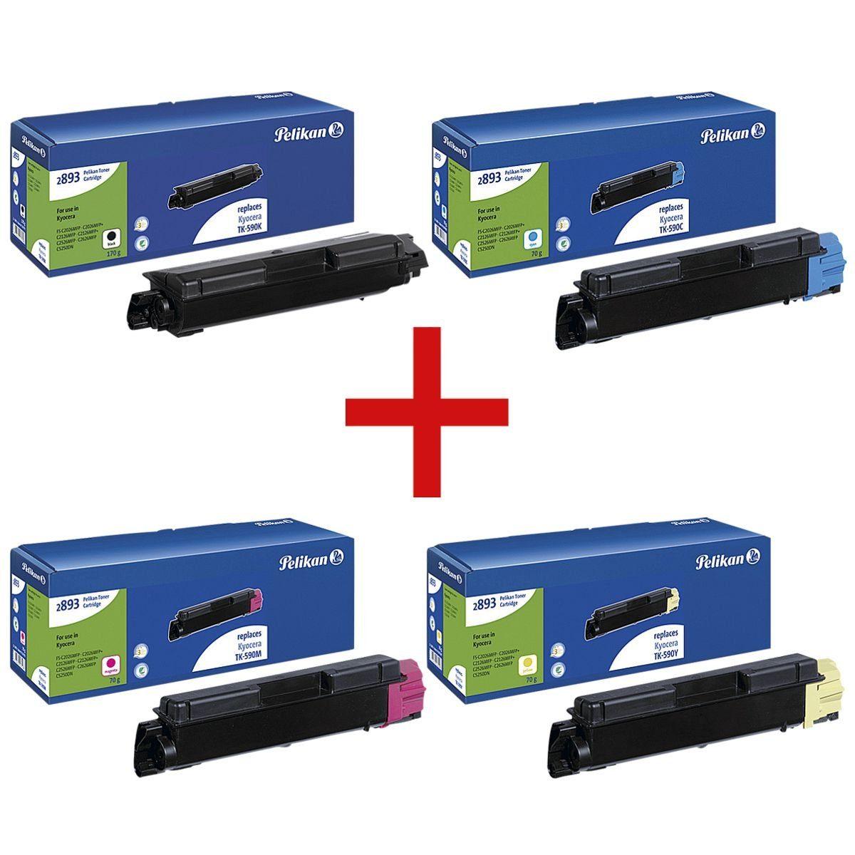 Pelikan Toner-Set ersetzt Kyocera »TK-590K/C/M/Y« 1 Set