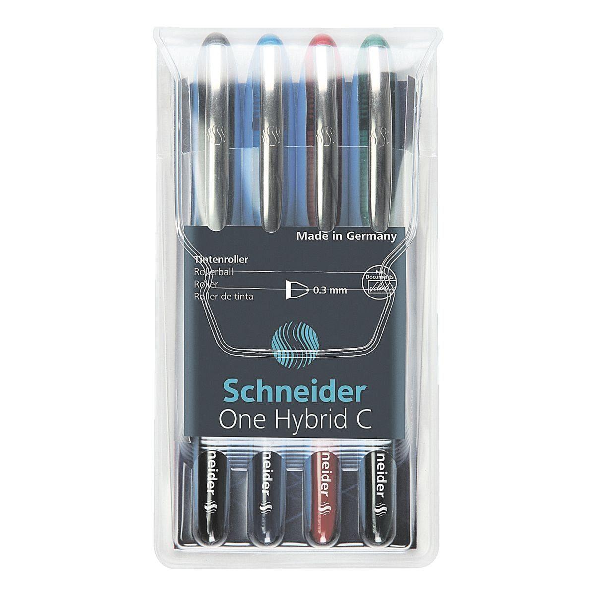 Schneider 4er-Etui Tintenroller »One Hybrid C 03«