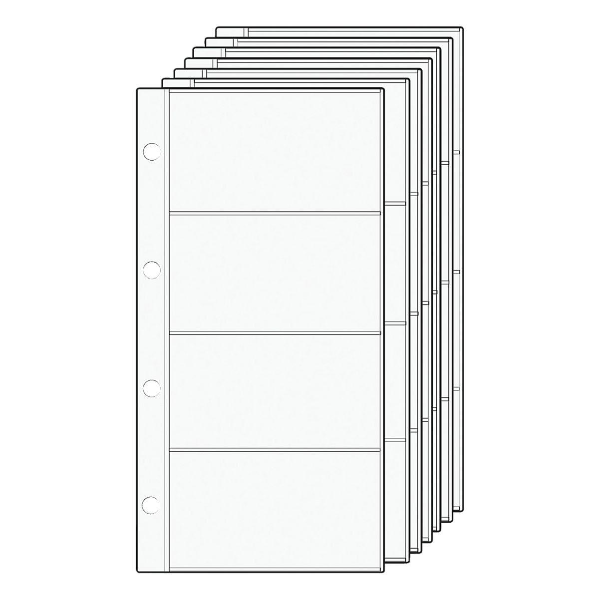Alassio® Ersatzhüllen für Visitenkartenringbücher