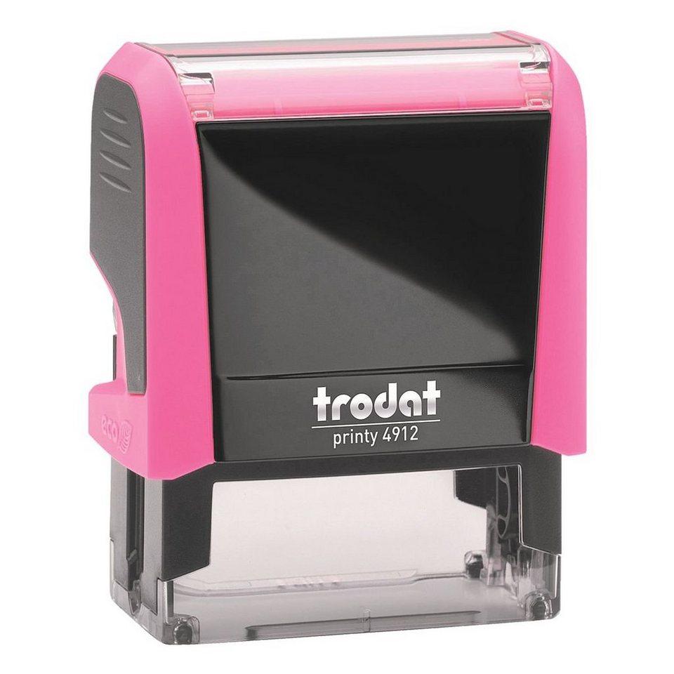 TRODAT Textstempel »Printy 4912« ohne Logo in neonpink