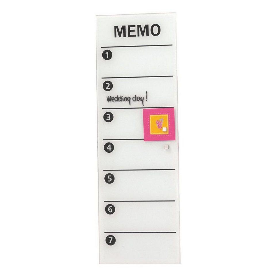 Franken Glas-Magnettafel »Memo« in weiß