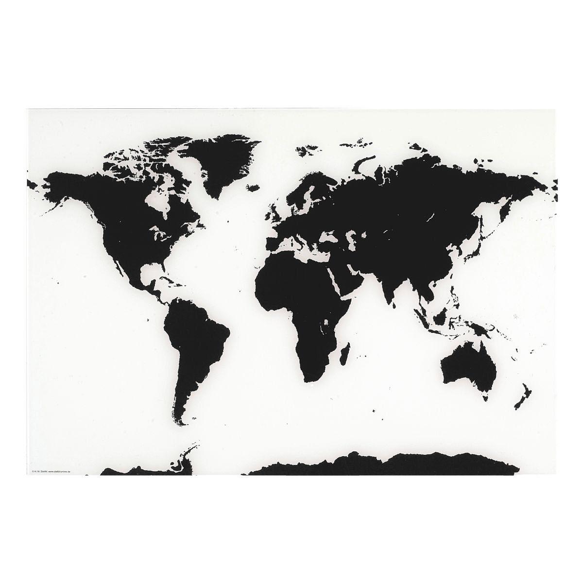 Franken Glas-Magnettafel »Weltkarte«