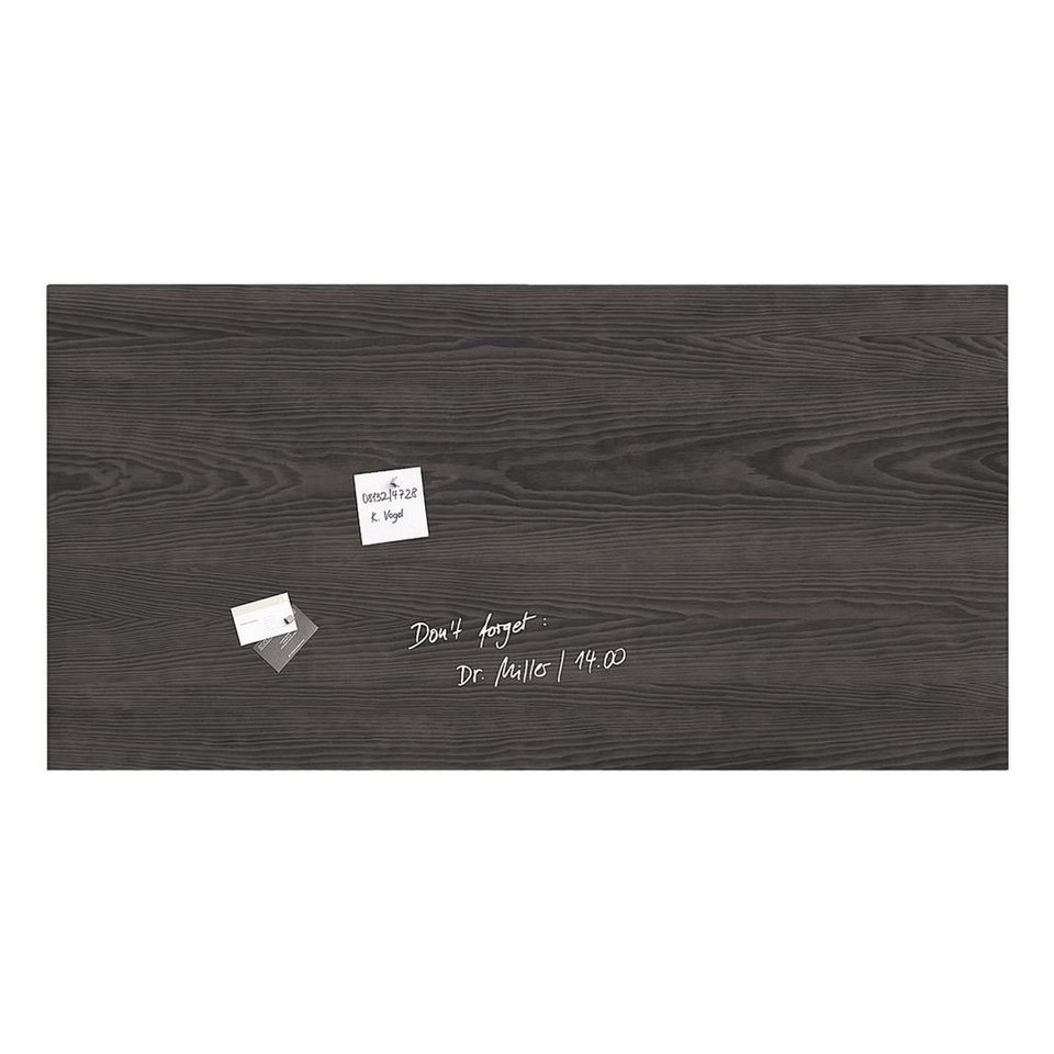 Sigel Glas-Magnettafel »artverum® Dark Wood«
