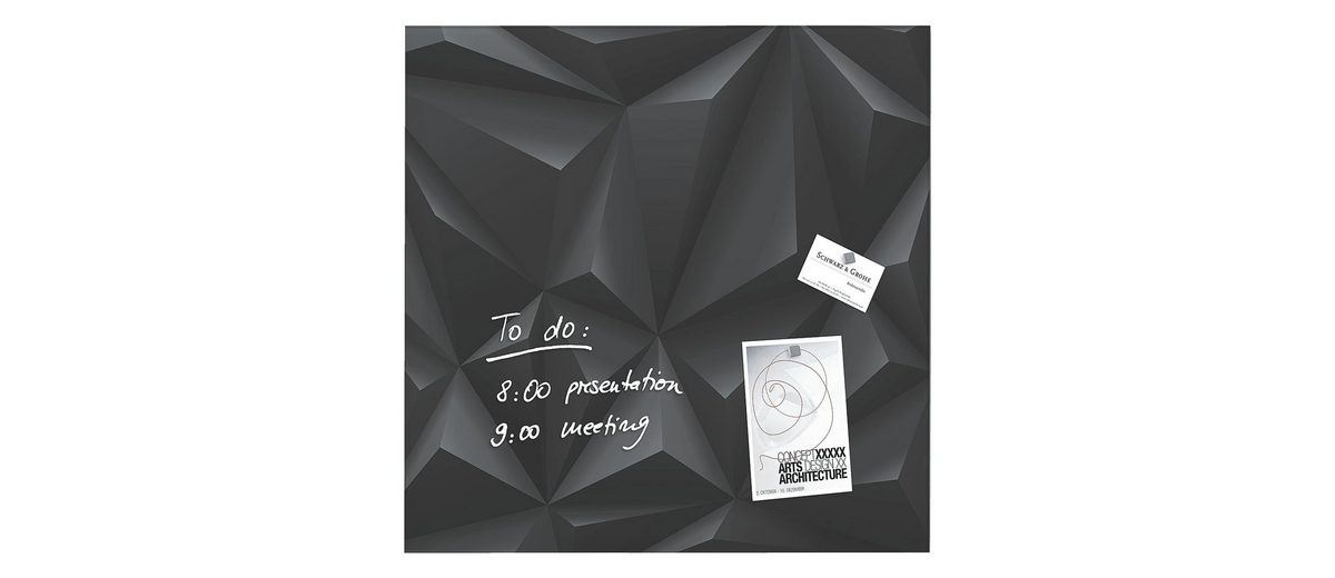 Sigel Glas-Magnettafel »artverum® Black-Diamond«