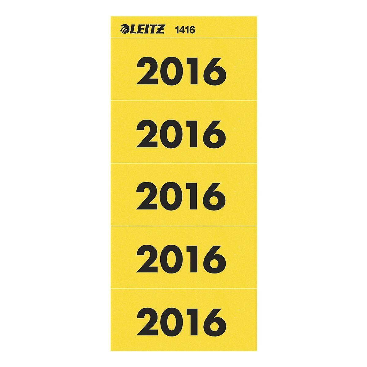 Leitz Selbstklebende Inhaltsschilder »Jahreszahlen 2016«