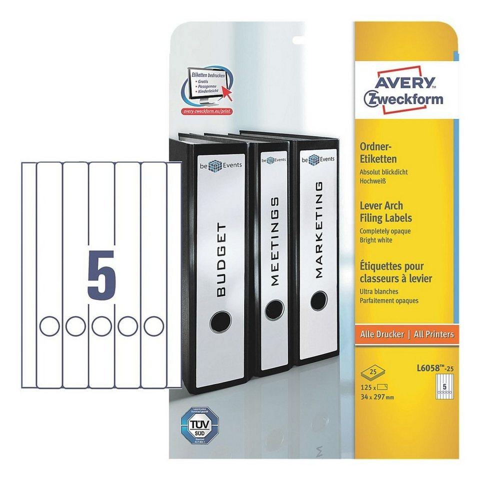 Avery Zweckform Selbstklebende Ordnerrücken-Etiketten