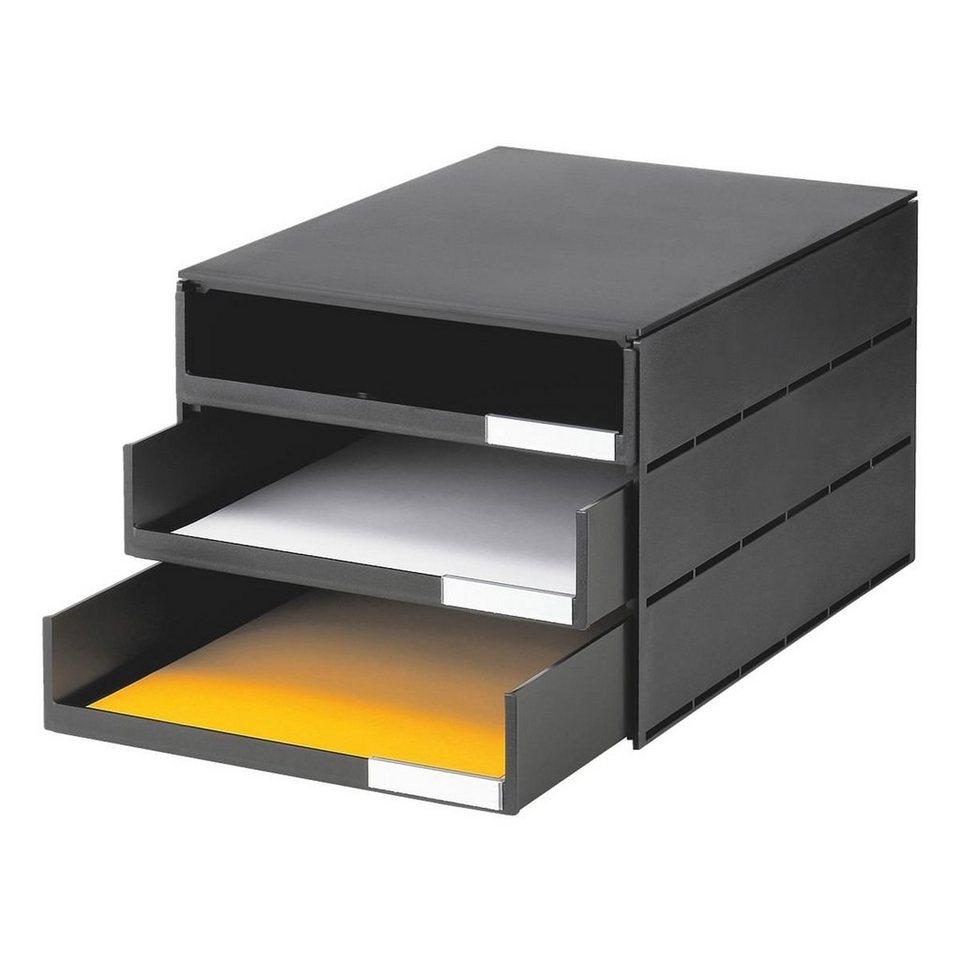 Styro Schubladenbox »Styroval« in schwarz