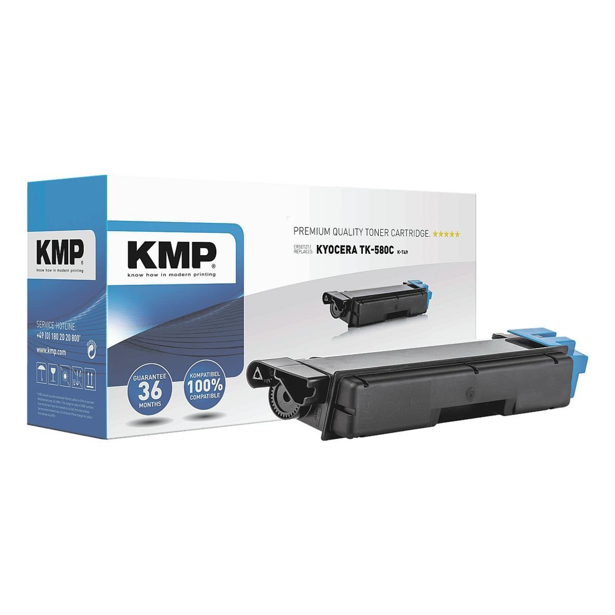 KMP Tonerpatrone ersetzt Kyocera »TK-580C XXL«