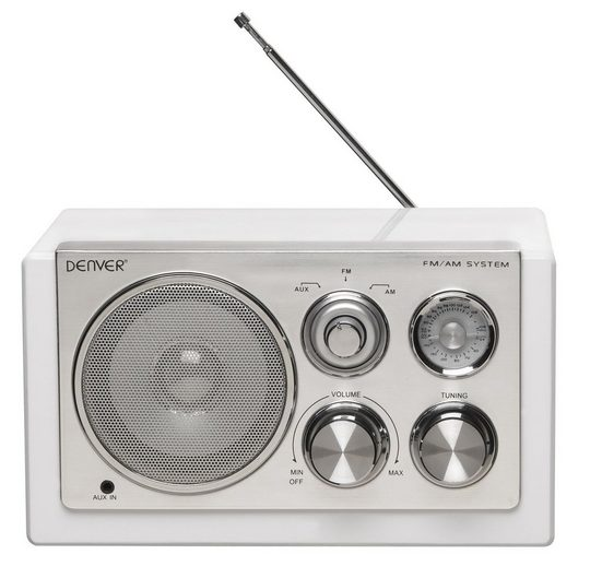 Denver »TR-61 WHITE« Audio-System (UKW/MW Radio)