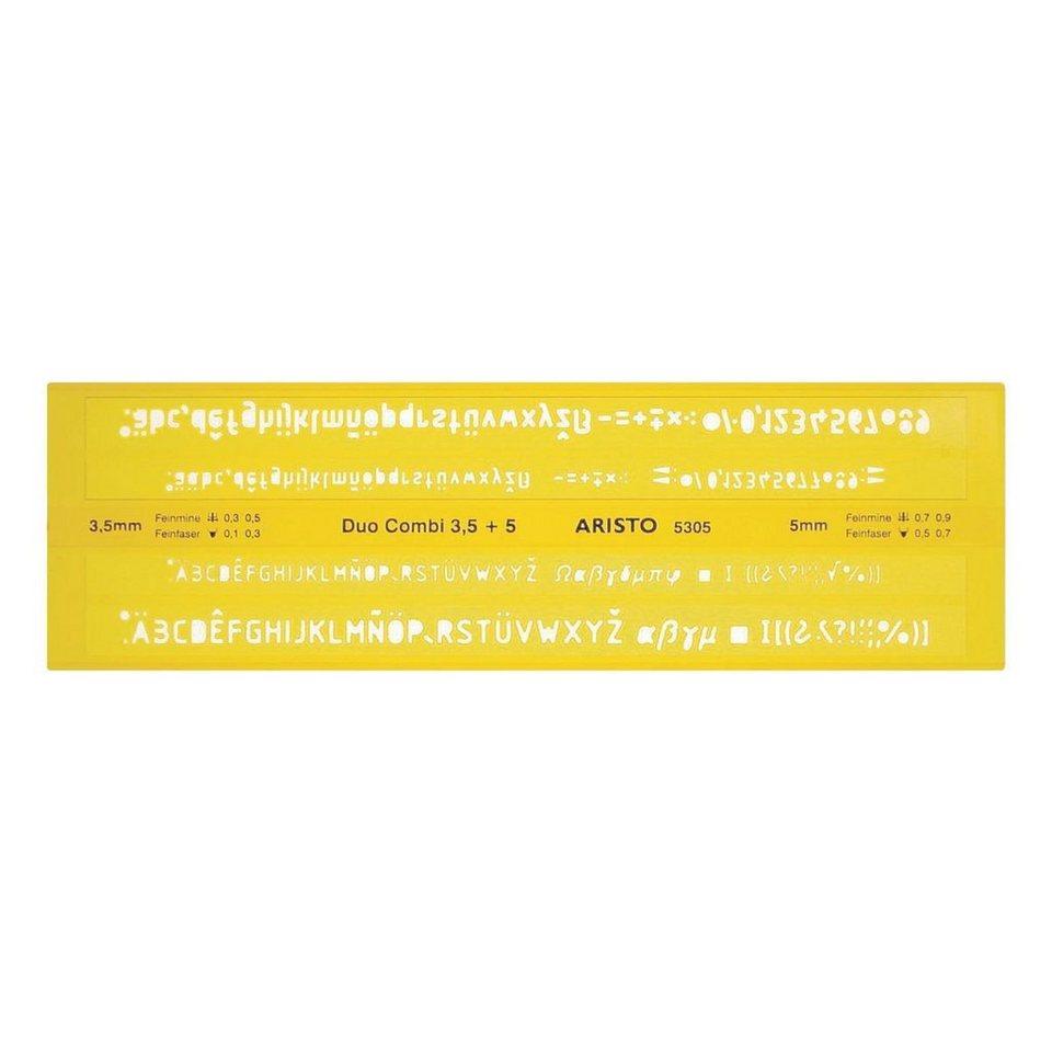 Aristo Schriftschablone »AR 5305 Duo-Combi«