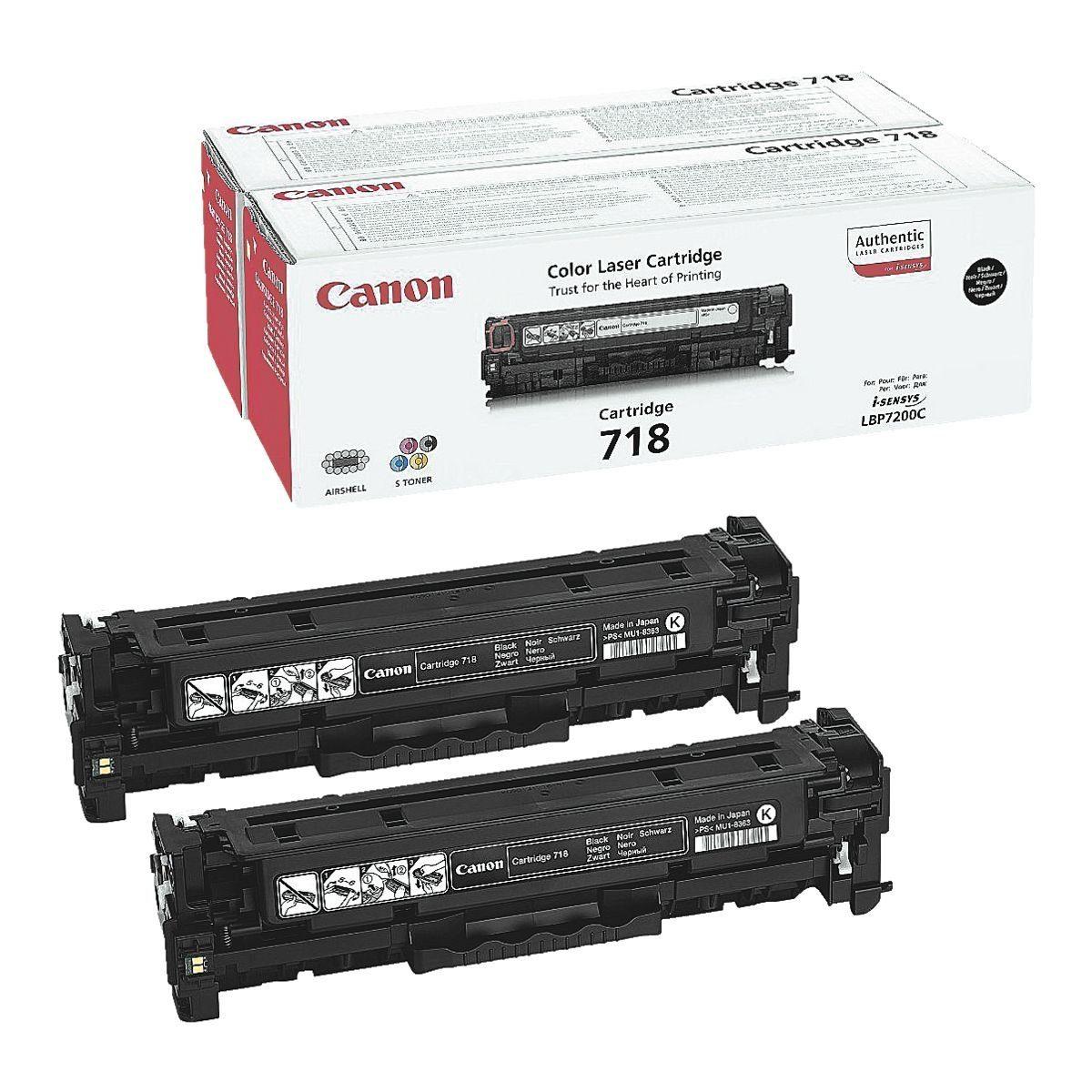 Canon 2x Toner »718BK«