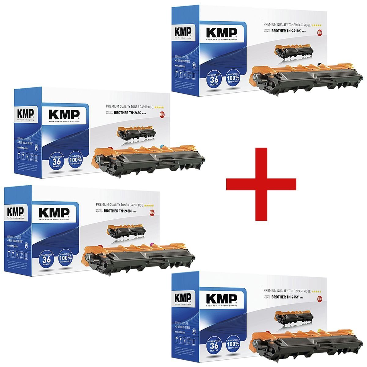 KMP Toner-Set ersetzt Brother »TN-241BK/C/M/Y« 1 Set