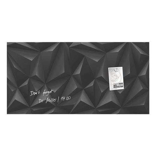 Sigel Glas-Magnettafel GL261 »Artverum Black-Diamond«