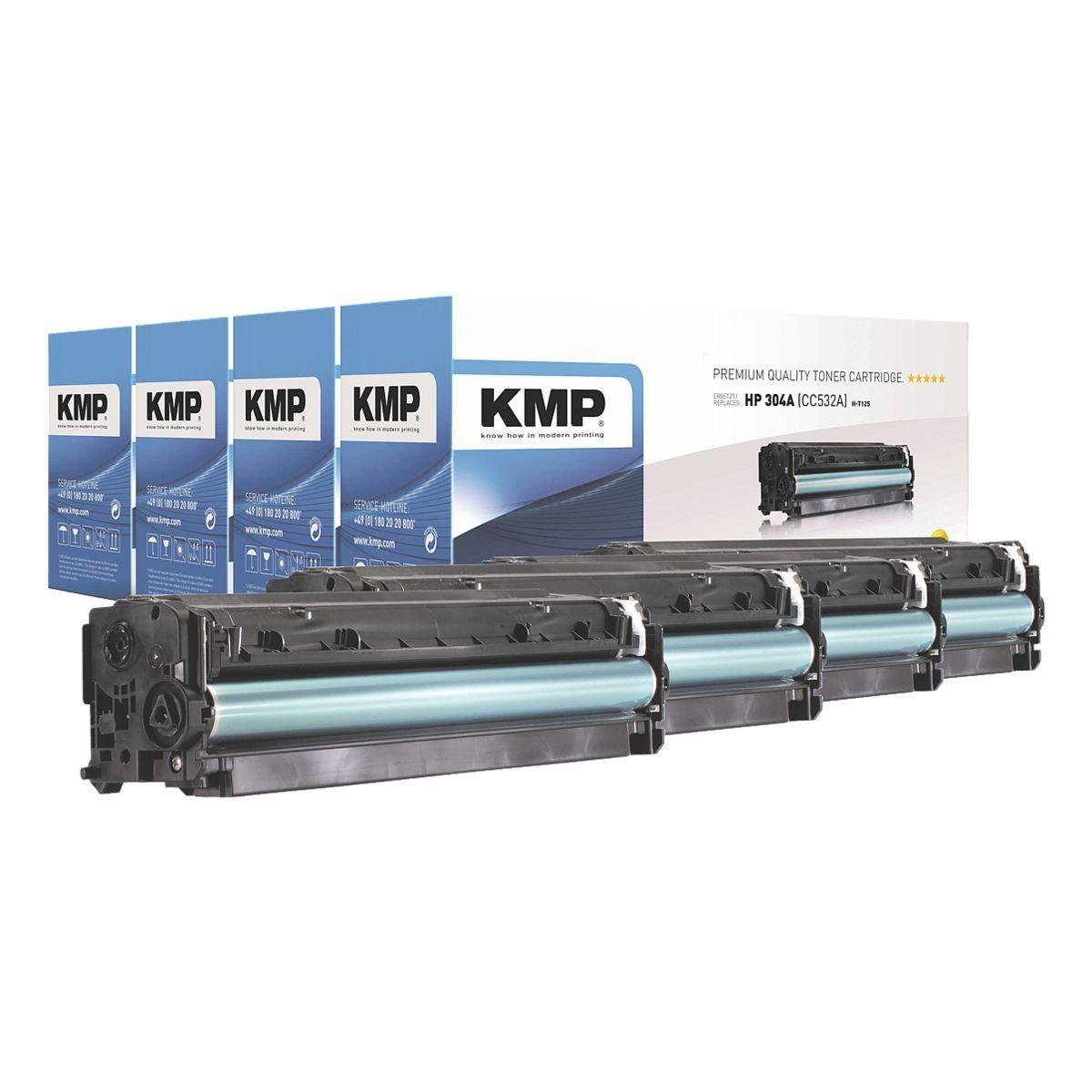 KMP Toner-Set ersetzt HP »CC530A / CC531A / CC532A / CC533A...