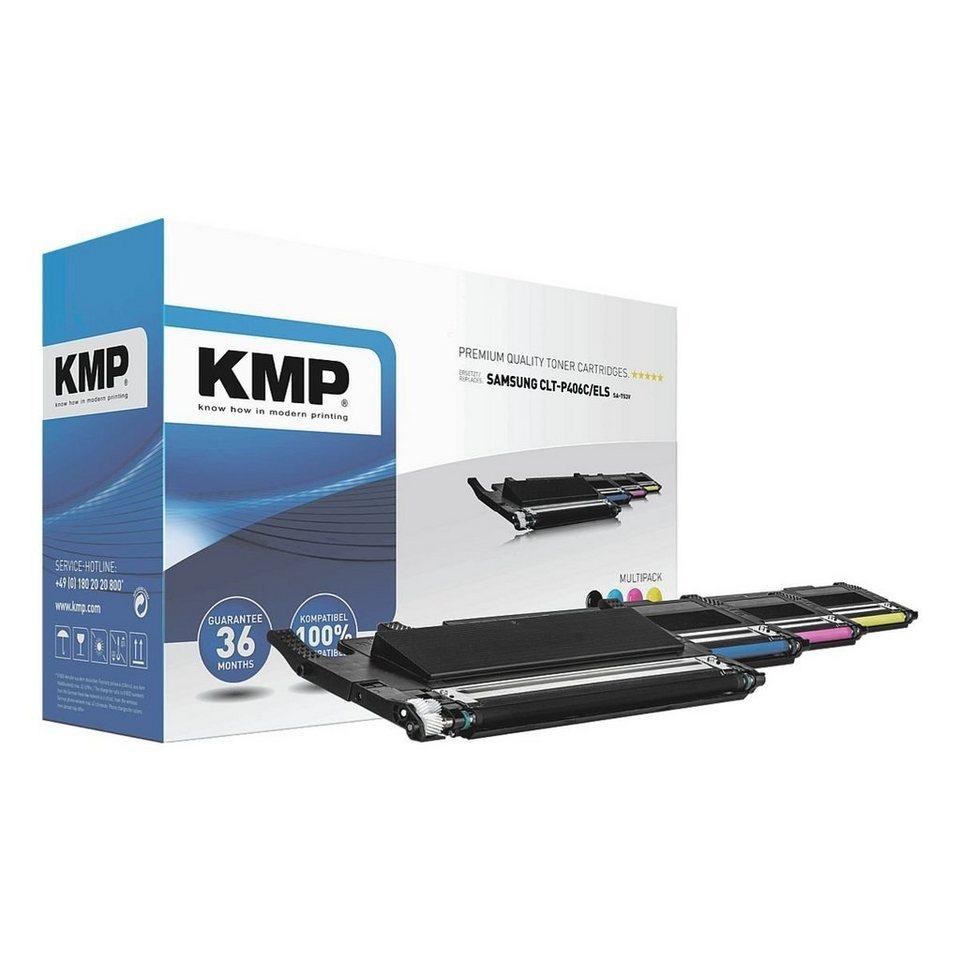 KMP Toner-Set ersetzt Samsung »CLT-P406C/ELS« in schwarz,cyan,mage...
