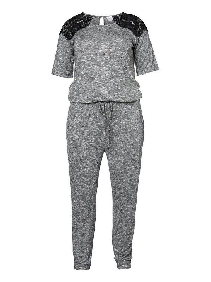 JUNAROSE Jersey- Jumpsuit in Medium Grey Melange