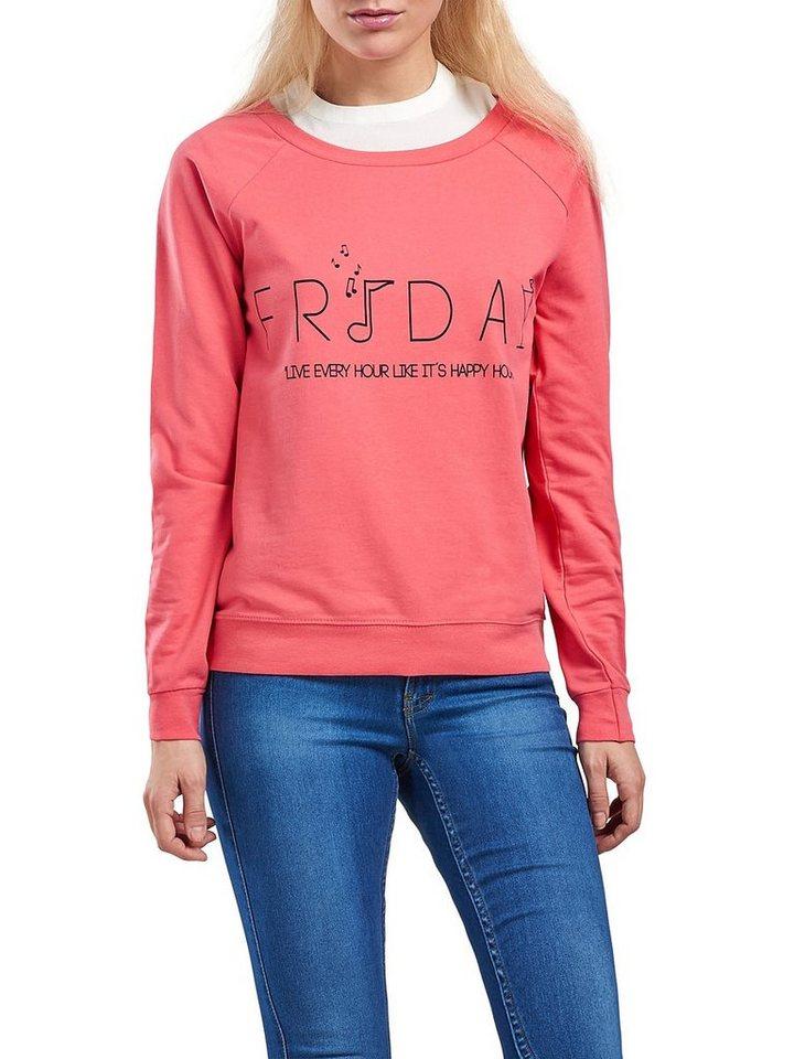 Only Bedrucktes Sweatshirt in Rose Of Sharon