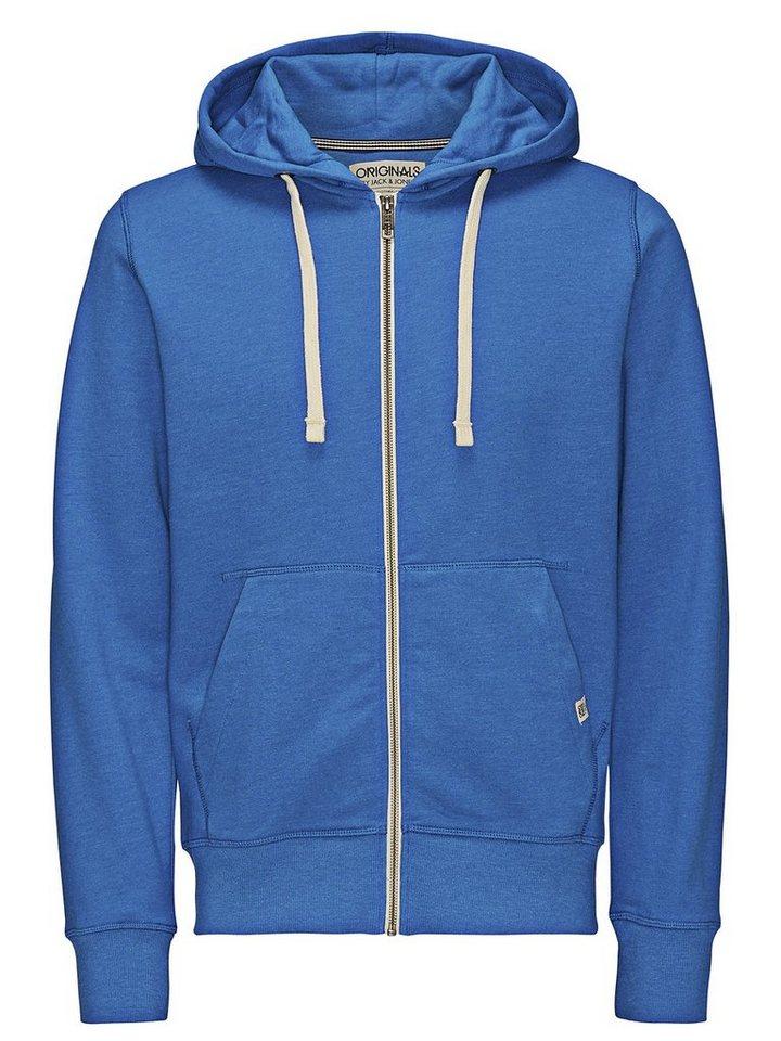 Jack & Jones Zipped Hoodie in Imperial Blue
