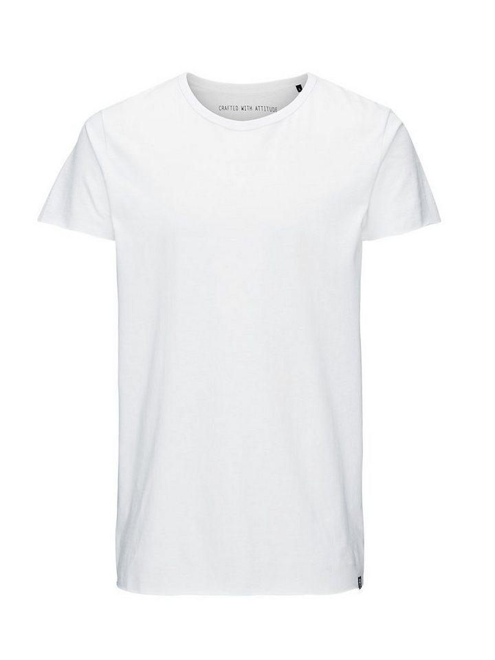 Jack & Jones Longline- T-Shirt in White