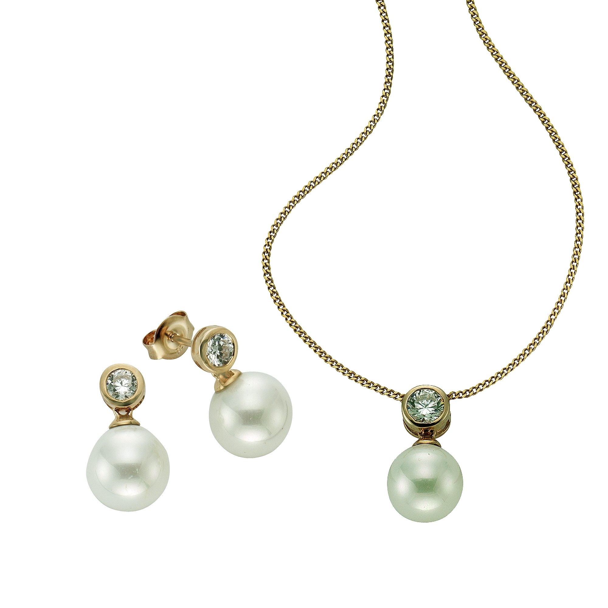 CELESTA 3tlg. Set »925/- Sterling Silber Perlen«