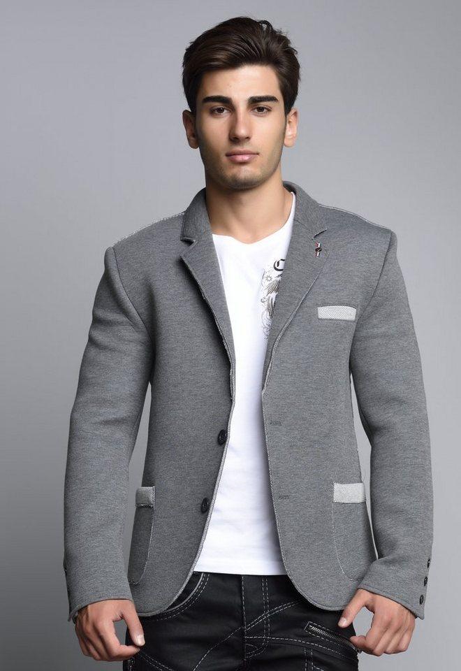 Cipo & Baxx Freizeit Blazer in Grey