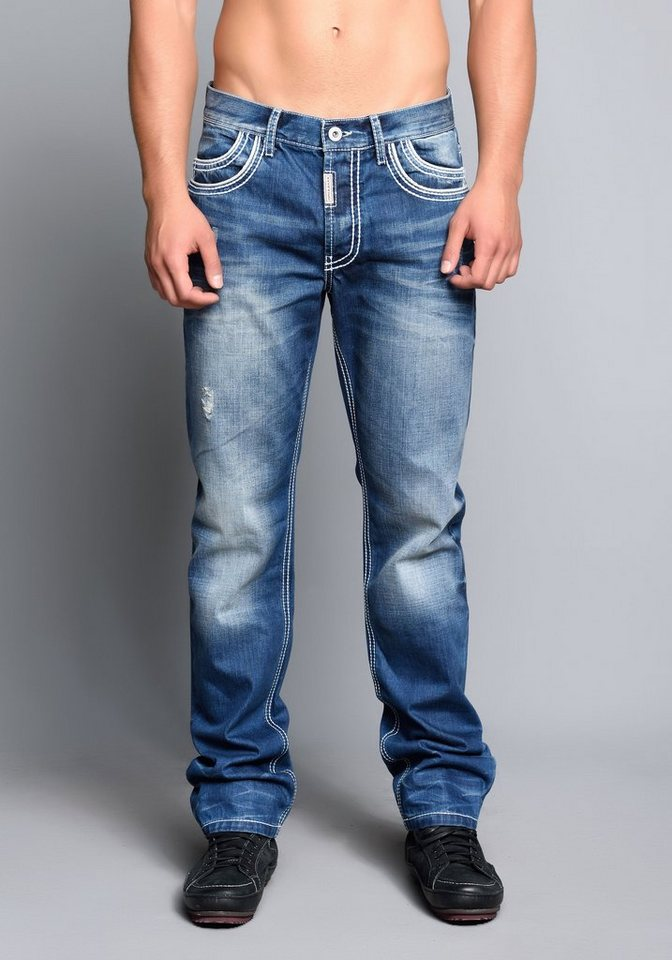Cipo & Baxx Baggyjeans Hose in Blue