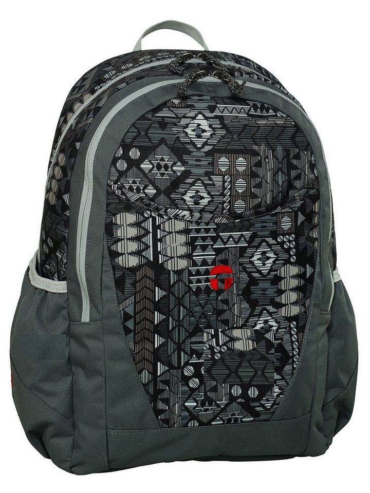 TAKE IT EASY® Schulrucksack, »Paris Aztec Grey« in Aztec grey