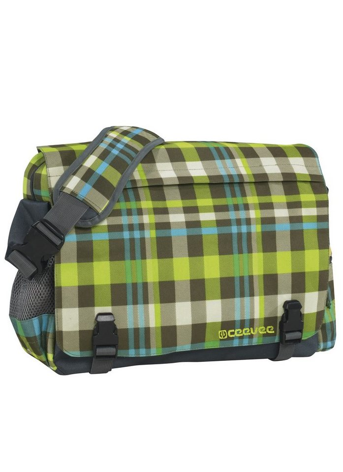 ceevee® Messenger Bag, »Manchester caro green« in caro green