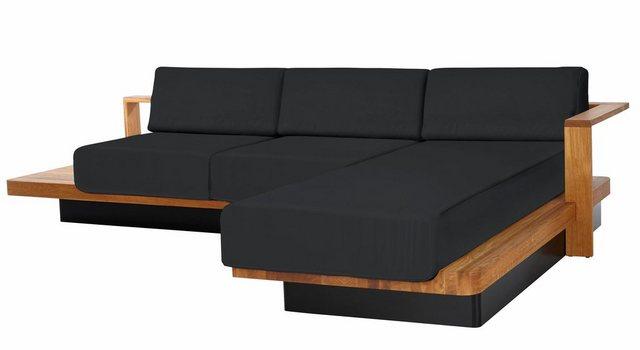 Sofas - ADA premium Ecksofa »HUDSON«, mit eleganten Massivholz Elementen  - Onlineshop OTTO