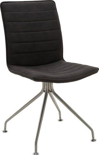NIEHOFF SITZMÖBEL Stuhl »Minimax« (Set, 2 Stück), mit Stativ Gestell in Edelstahl