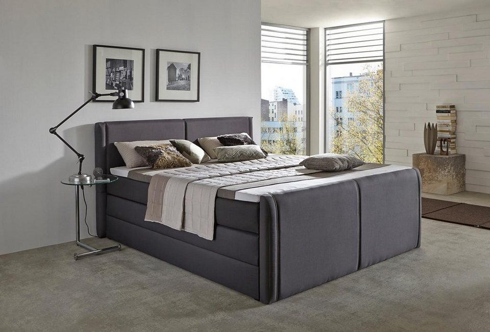boxspringbett mit bettkasten. Black Bedroom Furniture Sets. Home Design Ideas
