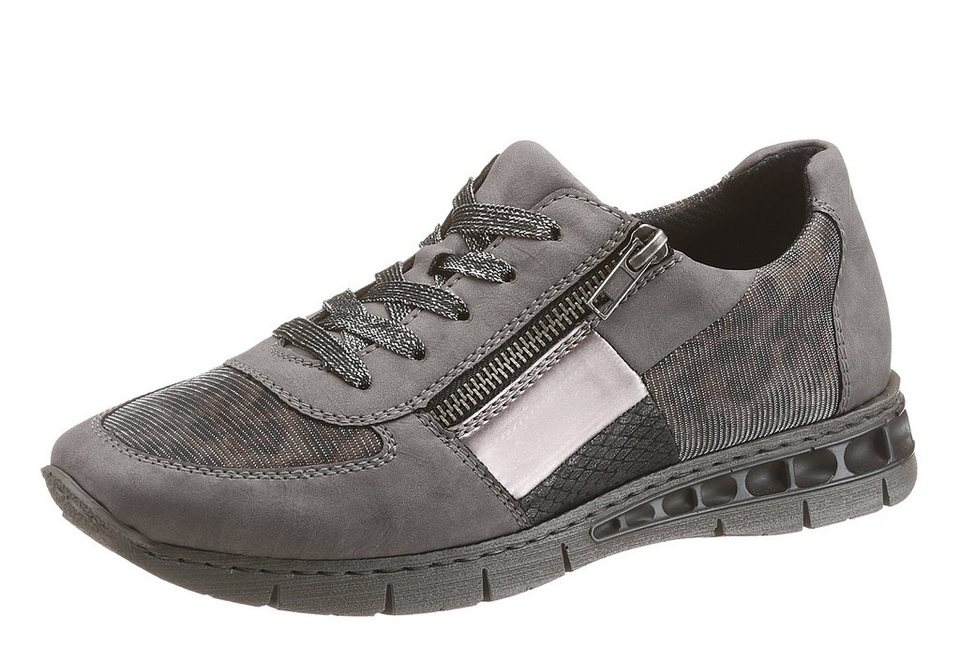 Rieker Sneaker in grau-silberfarben