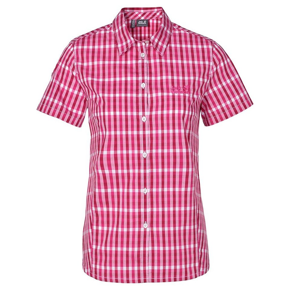 Jack Wolfskin Outdoorbluse »RIVER SHIRT WOMEN« in pink raspberry check